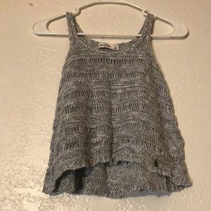 Sz S Girls Abercrombie Kids Sleeveless Crochet Top